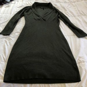 NWOT Connected Apparel dark olive sweater dress